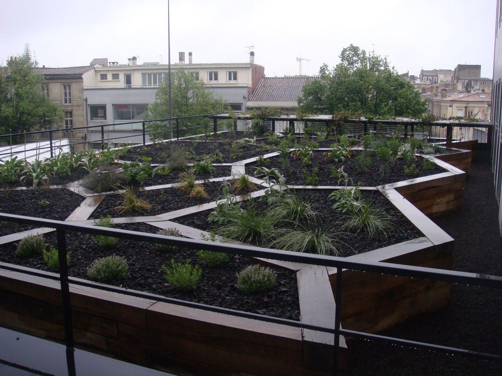 cr ation de jardins sur terrasse par un paysagiste bordeaux am nagement et entretiens de. Black Bedroom Furniture Sets. Home Design Ideas